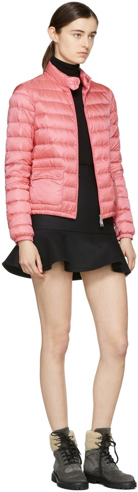 afbce7544 Pink Lans Collared Down Jacket