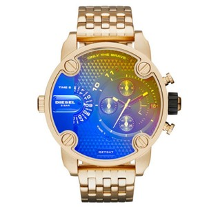 Diesel Diesel Men's Little Daddy Gold-tone Stainless Steel Watch DZ7347