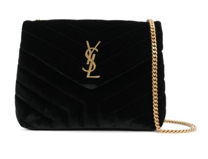 Saint Laurent Ysl Velvet Loulou Shoulder Bag