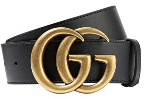 Gucci BRAND NEW Unisex Gucci Leather Belt with Double G Buckle - Size 100