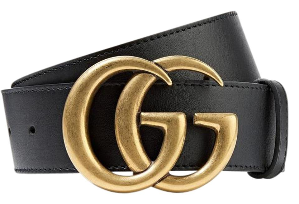 42f3aa2a9da0 Gucci BRAND NEW Unisex Gucci Leather Belt with Double G Buckle - Size 100  Image 0 ...