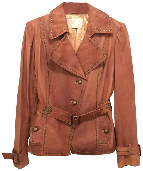 Item - Brown Gold New Distressed Supple Jacket Size 14 (L)