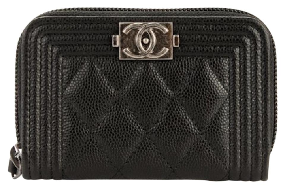 c2fd83c26f132c Chanel NEW Chanel Caviar Quilted Boy Zip Around Coin Purse Mini Wallet  Image 0 ...