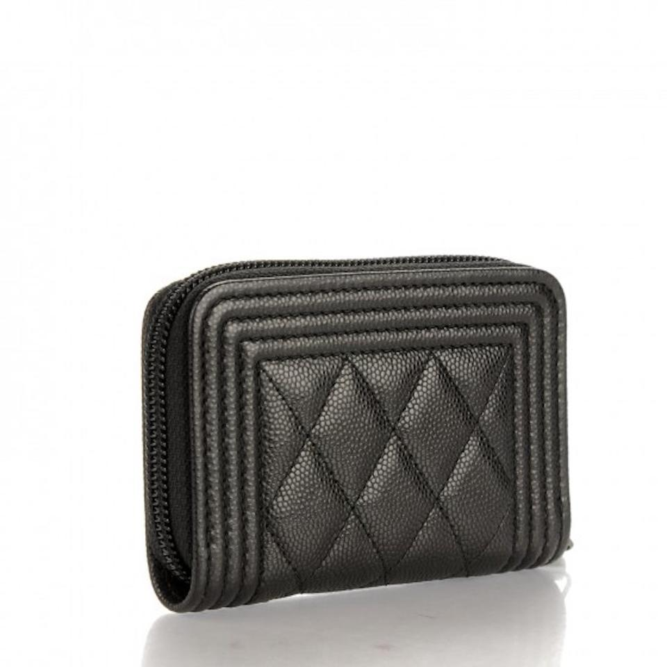 4718e4ffd0cb68 Chanel NEW Chanel Caviar Quilted Boy Zip Around Coin Purse Mini Wallet  Image 3. 1234
