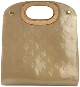 Louis Vuitton Vernis Leather Handle Satchel in Dune