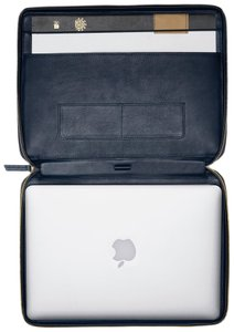 WANT Les Essentiels Portfolio Leather Minimal Stylish Laptop Bag