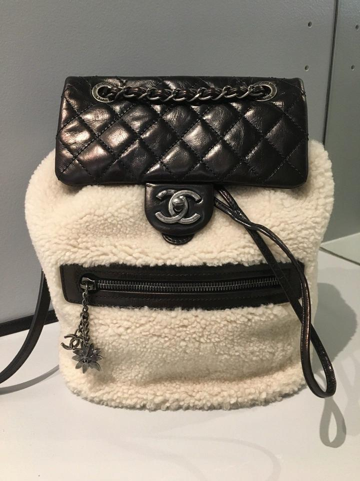 bee65eee3795 Chanel Backpack Paris-salzburg Mountain Limited Edition Black Shearling and  Leather Backpack - Tradesy