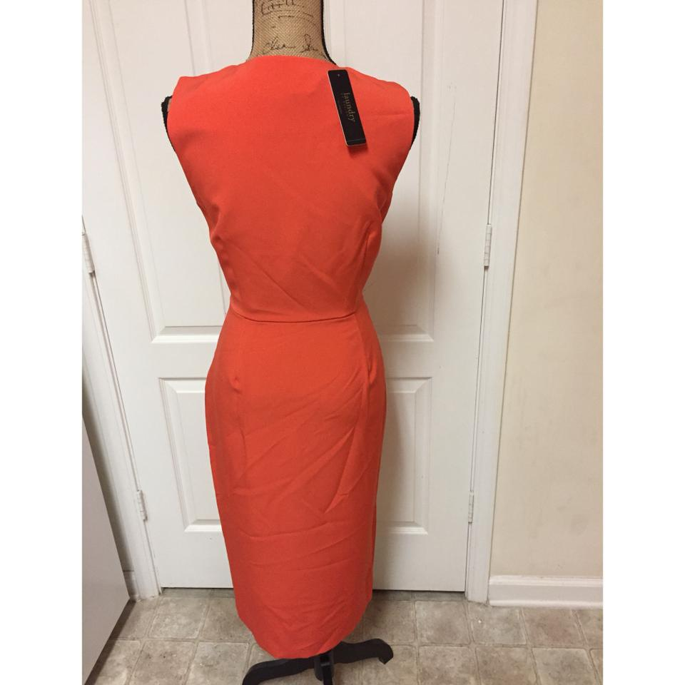 Laundry By Design Coral Paprika Midi Mid Length Night Out