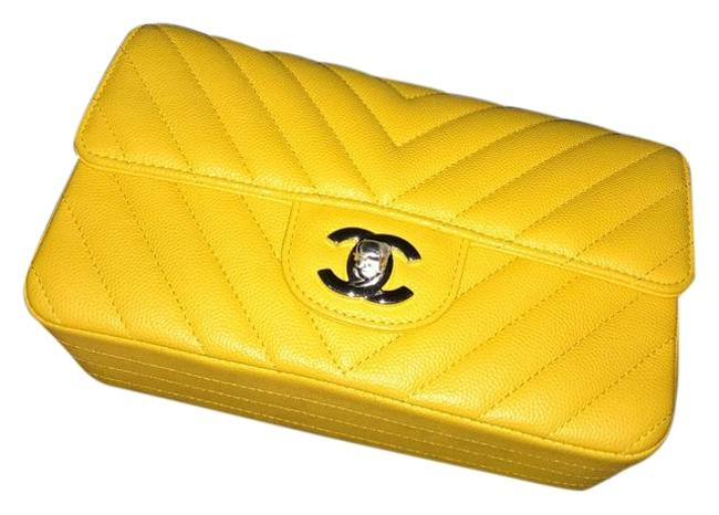 Item - Classic Flap Mini Yellow Caiver Leather Cross Body Bag