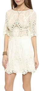 SAYLOR short dress White Embroidered Lace Open Back Rehearsal Dinner Wedding Shower on Tradesy