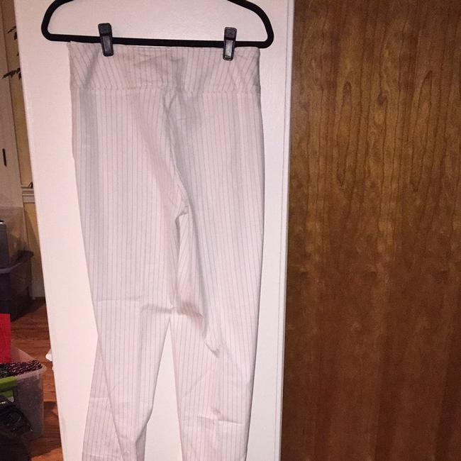 Anne Klein White Suit With Beautiful Blue Pinstripes