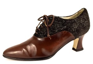 Bally Business Casual Sturdy Classic Tweed Brown Pumps