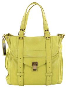 Proenza Schouler Leather Tote in Neon Yellow