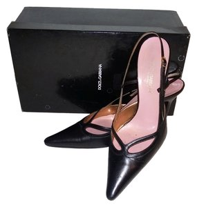Dolce&Gabbana Work Shoe Slingback Black Pumps
