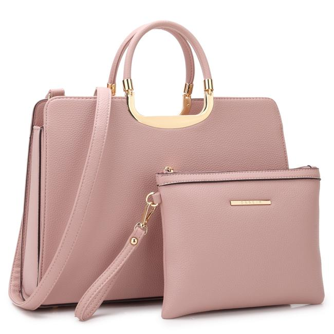 Item - With Matching Accessory Pouch Pink Faux Leather Satchel