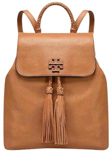 Tory Burch Leather Fringe Boho Casual Chic Backpack