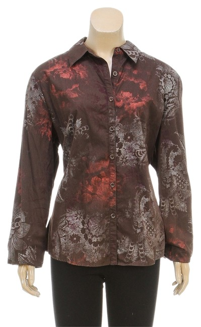 Preload https://item4.tradesy.com/images/st-john-multi-color-sport-brown-l-110617-button-down-top-size-12-l-2236738-0-0.jpg?width=400&height=650
