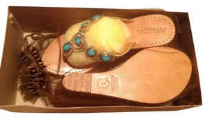 Mystique Boutique gold/turquise Sandals