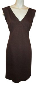 05796a1cd95 Donna Ricco Black White Purple Nyc Mid-length Work Office Dress Size ...