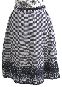 Kate Spade Skirt Navy & White