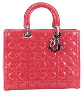 Dior Christian Patent Lady Tote in Candy Pink