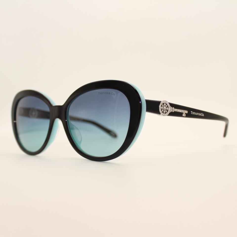 87f929f2b543 Tiffany   Co. Black   Silver   Blue Oval Key 4118-b-f Sunglasses ...