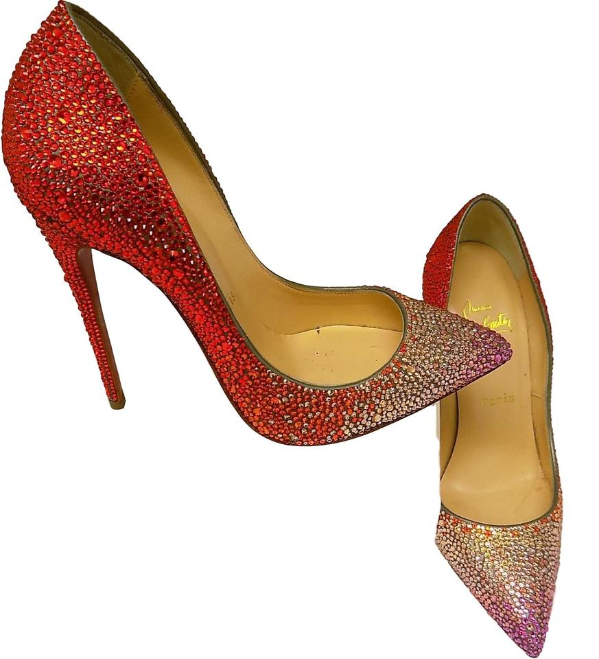 62833dbb6425 Christian Louboutin Red Pigalle Follies Strass 120 Ombre .