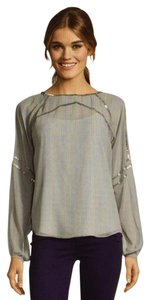 Aryn K Sequins Flowy Top Grey