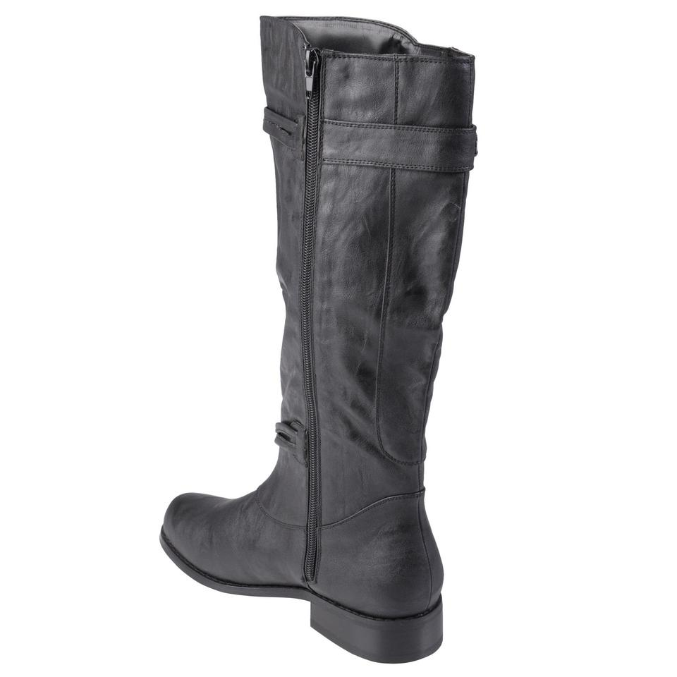56c0f7b72c07 Journee Collection Black Womens and Extra Wide-calf Ankle Strap Knee-high  Boots Booties Size US 8 Wide (C