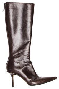 Jimmy Choo Leather Knee High brown Boots