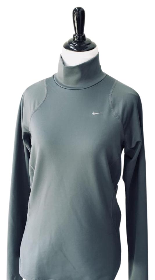 ef4082c7e1534 Nike Silver Grey Fit Dry Turtleneck Activewear Top Size 8 (M) - Tradesy