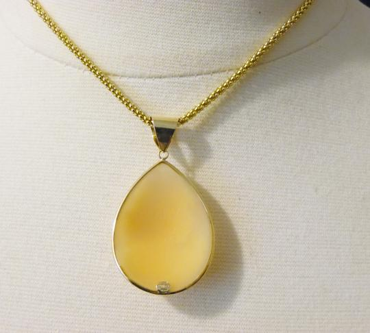 """AMEDEO RARE M&M Scognamiglio """"Lady With Pearls"""" Triple-Carved 14k Pendant"""