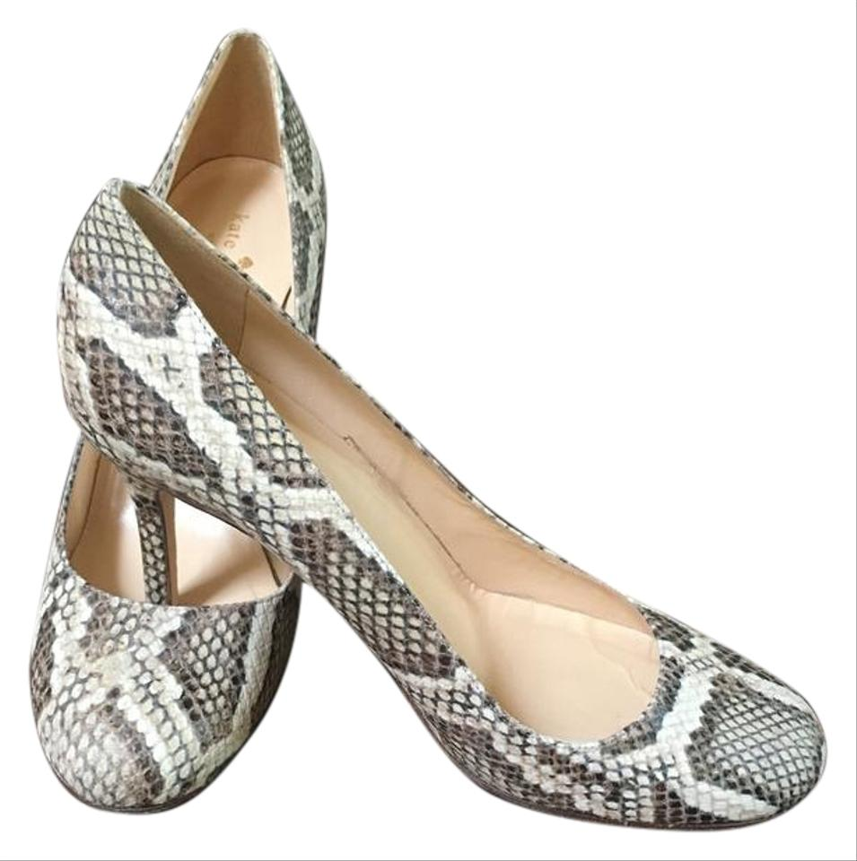 7a47ed7ff Kate Spade Round Toe Snakeskin sand/neutral faux python natural Pumps Image  0 ...