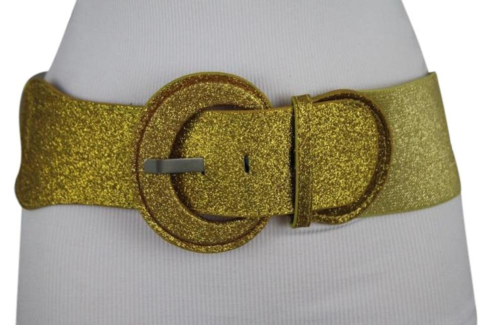 Gold Womn Special Fashion Sparkling Glitter Shiny Corset Holidays M L Belts Tradesy
