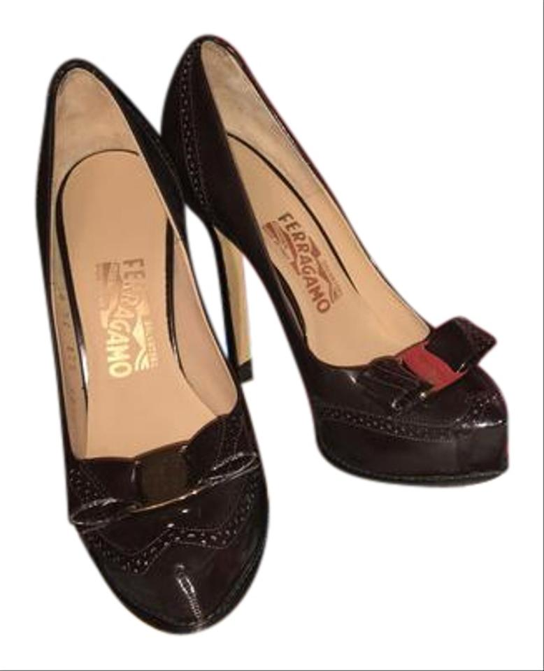 Ladies Salvatore first Ferragamo Brown Pumps The first Salvatore set of comprehensive specifications for customers 29b15c