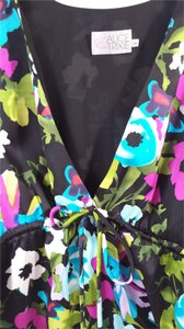 Alice & Trixie And Silk Kimono Top Black Floral