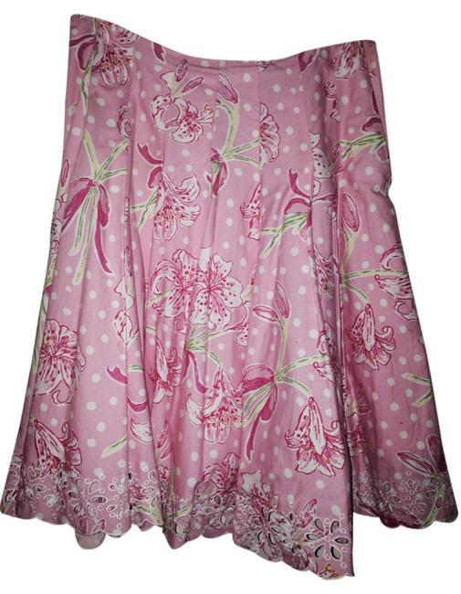 Preload https://img-static.tradesy.com/item/2236942/lilly-pulitzer-pink-white-floral-knee-length-skirt-size-2-xs-26-0-0-650-650.jpg