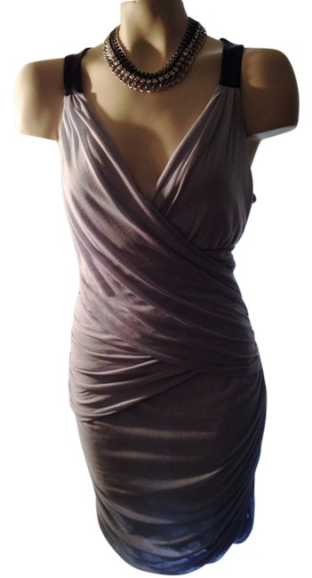 Item - Grey/Black Trim New with Tags Above Knee Cocktail Dress Size 12 (L)