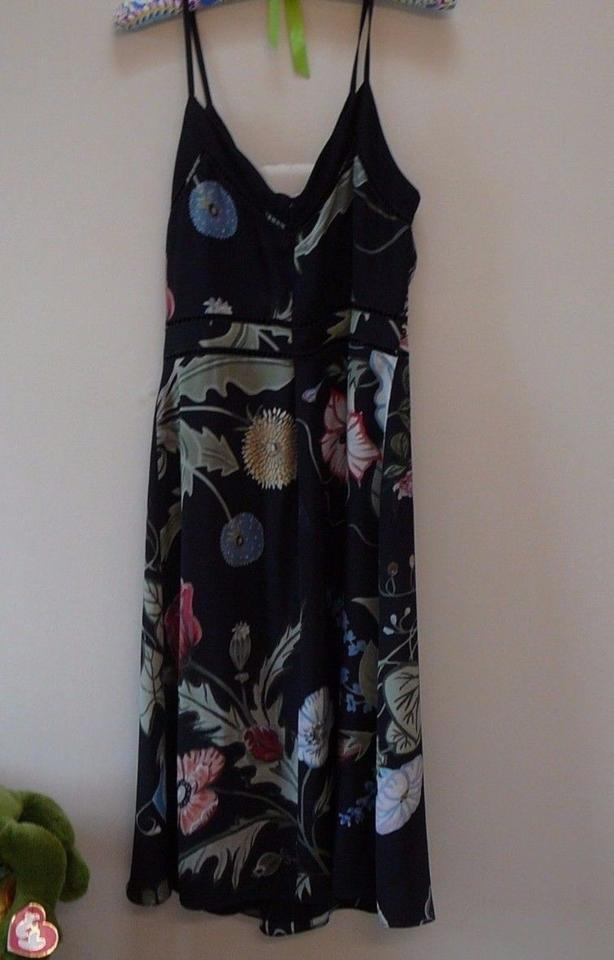 154c0eb1aac Gucci Black New Floral Silk 44 Mid-length Short Casual Dress Size 8 ...