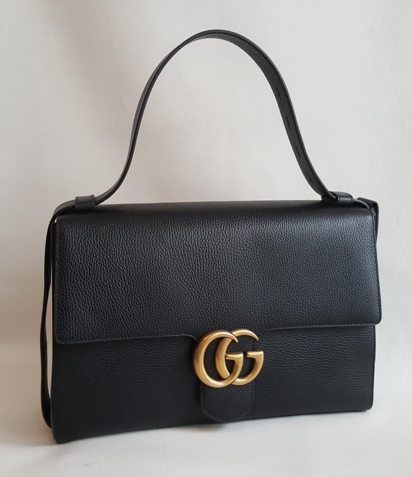 Gucci Marmont Cross Black Leather Messenger Bag - Tradesy 4a1c999d26982