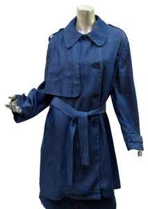 Joseph Trench Asymmetric Size Large New Without Tags Chambray Coat
