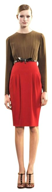 Item - Multi-color W New Pleated W/ Dragonfly Belt 40 298658 Mid-length Night Out Dress Size 4 (S)