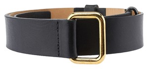 Streets Ahead Streets Ahead Black Leather Skinny Belt, Size S (3706)