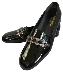California Magdesians Patent Leather Embellished Black Flats