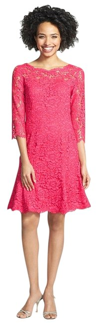 Preload https://item2.tradesy.com/images/eliza-j-pink-lace-tulip-above-knee-cocktail-dress-size-8-m-2237046-0-0.jpg?width=400&height=650