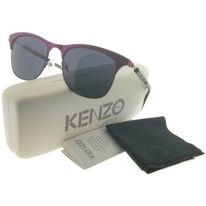 Kenzo KZ3176-C03-52 nisex Purple Frame Grey Lens 52mm Sunglasses NWT