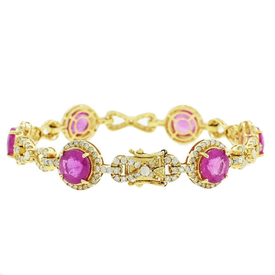 morganite www well carat suited diamond rose and tourmaline info zoom tennis bracelet white pink thehoffmans gold