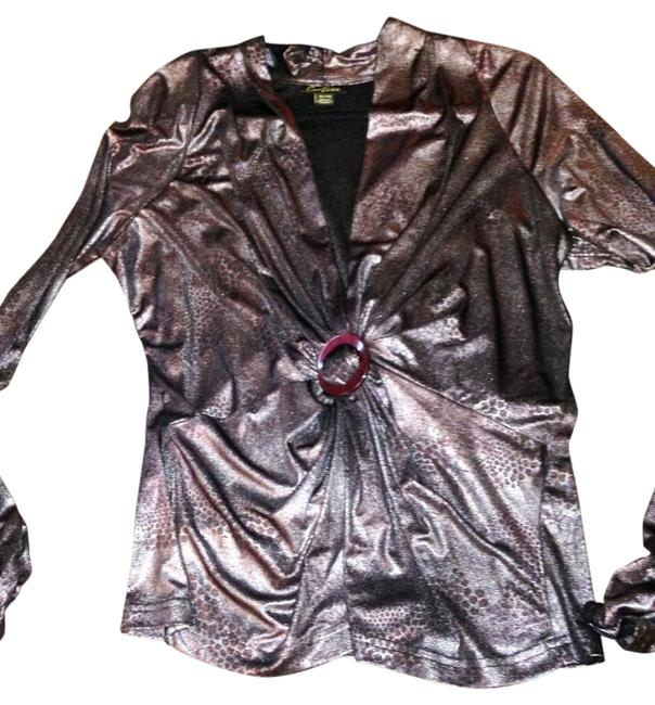 Preload https://item2.tradesy.com/images/cartise-silverbronze-shirred-neckline-animal-print-night-out-top-size-16-xl-plus-0x-2237091-0-2.jpg?width=400&height=650