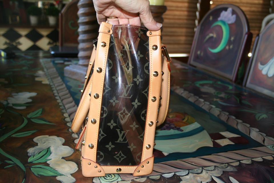 d14b56807ce8 Louis Vuitton Studded Monogram Lightweight Tote in Clear Amber Image 8.  123456789