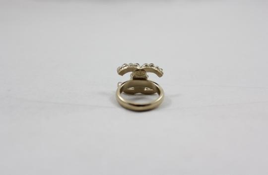 Chanel Crystal CC Logo Ring